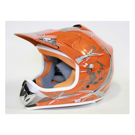 Casco Cross Xtreme naranja
