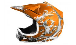 Casco Cross Xtreme naranja Mate