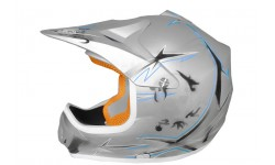 Casco Cross Xtreme Plata Mate