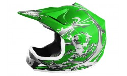 Casco Cross Xtreme verde Mate